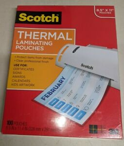 Scotch Thermal Laminating Pouches 100 pack 8 9 X 11 4 Inches 3m