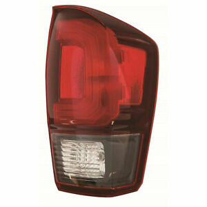 For Tacoma 2018 2019 Rear Tail Lamp Red W Black Trim Right Passenger