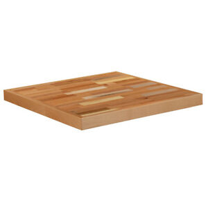24 Square Butcher Block Style Restaurant Table Top In Solid Wood Natural