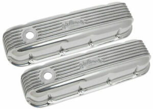 Edelbrock Bbc Classic Finned Valve Covers 4185 Big Block Chevy