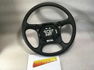 1995 1998 Silverado Sierra Graphite Black Steering Wheel W o A bag New 15759723