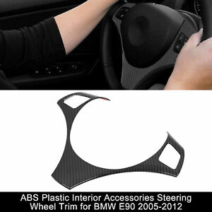 Abs Plastic Interior Accessories Steering Wheel Cover Trim For Bmw E90 2005 2012