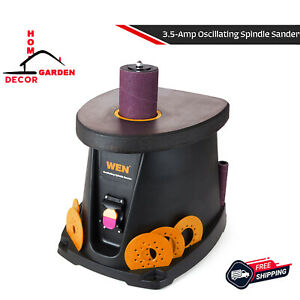 Spindle Sander 3 5 Amp 1 2 Hp Oscillating Sanding Tool Dust Collector Storage