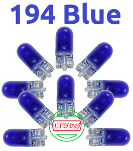 10 194 Blue T10 Wedge Car Mini Light Bulbs W5w 2825 158 192 168 193 161