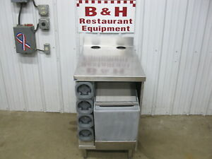 21 Stainless Slushie Smoothie Fountain Machine Table Cabinet W Ice Well Bin