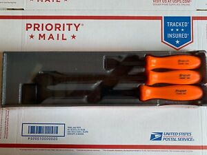 Snap on 3 pc Scraper Set Orange Classic Hard Handles