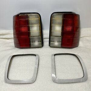 Rare 1988 1993 Ford Festiva Clear Tail Lights W New Taillight Gasket Part Set