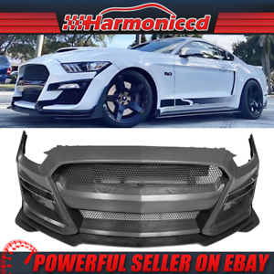 Fits 15 17 Ford Mustang Front Bumper Cover Gt500 Style W Grille Replacement Pp