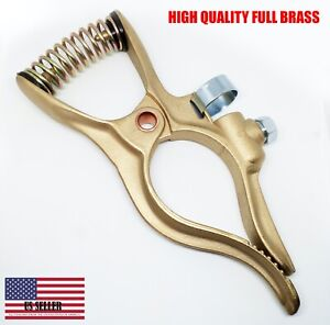 1 Pc 400 Amp High Quality Brass Welding Ground Clamp