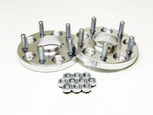2pc 20mm Silver Wheel Spacers W Hubcentric Lip 5x4 5 To 5x4 5 67 1 Cb