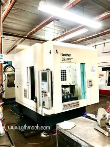 Brother Tc 32b Cnc Tapping Center 4th Axis Pallet Changer 16 000 Rpm Spindle