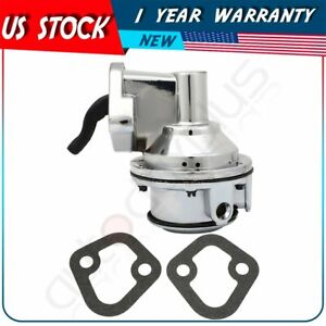 Fits Chevy Small Block 350 High Volume Mechanical Fuel Pump Chrome 1 4 Fitting