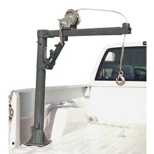 Pickup Truck Bed Crane With Hand Winch 1000 Lb Capacity Base Swivels 360