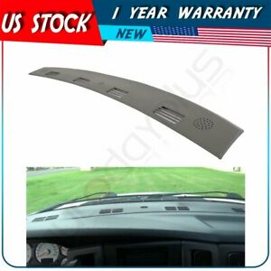 For 2002 2003 2004 2005 Dodge Ram 1500 2500 Dash Cover Cap Overlay Defrost Gray