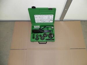 Greenlee 7804sb Quick Draw Hydraulic Punch Driver With 1 2 2 Knockout 7806sb