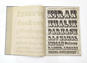 Vintage Specimen Book Of India Type Foundry Hindi English Etc Hard Bound Bk 4