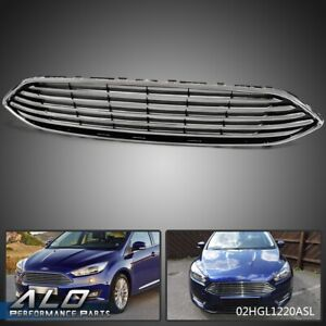For 2015 2018 Ford Focus Front Bumper Upper Center Grille Chrome Fo1200563