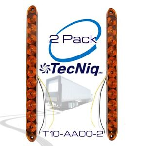 2pack 15 Tecniq Amber Led Turn Signal Truck Trailer Rv Light Bar