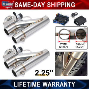 2in1 2 25 Electric Exhaust Downpipe E cutout Cut Out Dual Valve Remote Wireless