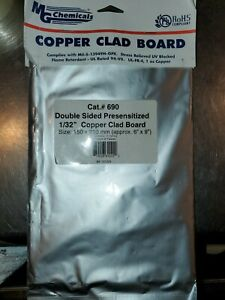 Copper Clad Board Double Sided Presensitized 1 32 Mg Xhemical