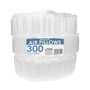 4x8 Air Pillows 300 Count Void Fill Package Dunnage Shipping Cushioning Packing