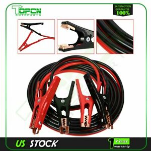 12 Ft 6 Gauge 500amp Booster Jumper Cables Power Jumping Start Cable Automotive