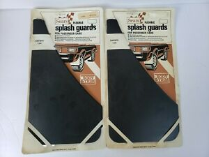 Vintage Sears Flexible Splash Guards For Cars Front Rear Set Of 4 Mud Flaps Nos