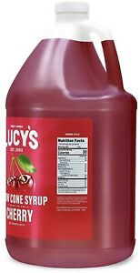Lucy s Family Owned Shaved Ice Snow Cone Syrup Cherry 1 Gallon 128oz