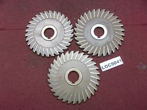 Niagara Cutter Inc Radius Arbor Slitting Saw Blades Lot Of 3 6x1 4 Loc9041