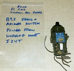 Emco F1 Cnc Mill Control Box Parts k n B9x Latching Switch For Motor On off I24t
