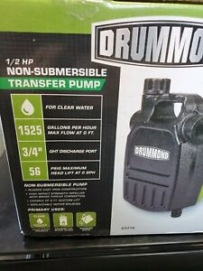 Drummond 1 2 Hp Cast Iron Non Submersible Transfer Pump