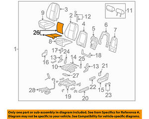 Gm Oem Seat Heater Element 20792749 Back Cushion W Out Heat Cool Seats