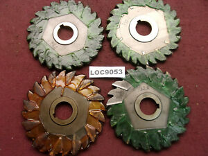 Niagara Cutter Inc Arbor Slitting Saw Blades Lot Of 4 6x3 8 Loc9053