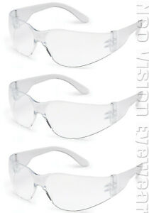 3 Pair pack Gateway Starlite Small Clear Safety Glasses Z87 Csa Z94 4