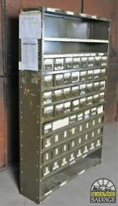 Super Industrial Piece Army Green 64 drawer Steel Parts Bin Cabinet 6 Ft Tall