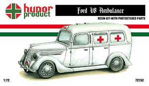 1 72 Ford V8 Ambulance Hunor Model Wwii Resin Kit With Pe Parts 72152