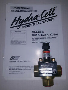 New Wanner Engineering Inc Hydra cell Bypass Pressure Regulating Valve C 22a