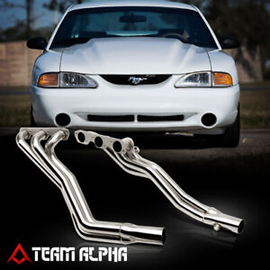 Fits 1994 2004 Ford Mustang 3 8 full Length Stainless Exhaust Manifold Header