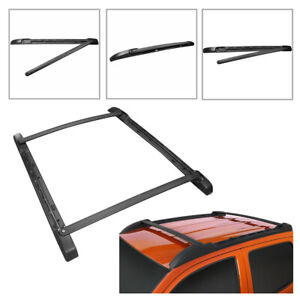 Top Roof Rack Cross Bar W Side Rails Kit For 2005 2019 Toyota Tacoma Double Cab