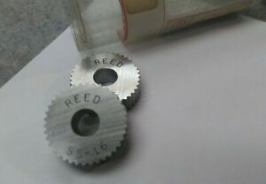 Reed Knurl Wheel Roller Ss 16 Set Of 2 New