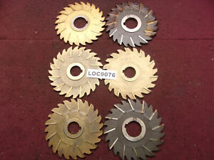 Niagara Arbor Slitting Saw Blades Lot Of 6 Loc9076