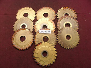 Misc Arbor Slitting Saw Blades Misc Sizes Lot Of 10 Loc9079