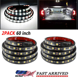 2x 60 Led Truck Cargo Bed Light Strip Kit Fit For Chevy Ford Dodge Gmc Boat