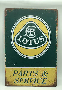 Garage Sign With Lotus Parts Service