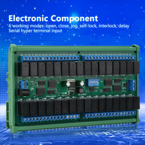 12v 32 Rs485 Relay Board Plc Serial Port Remote Control Switch With Rail Box