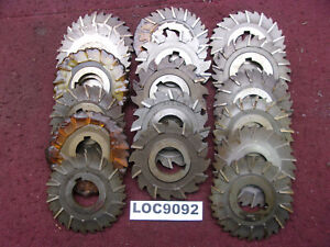 Misc Brand Arbor Slitting Saw Blades Misc Sizes Lot Of 18 Loc9092