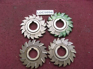 Niagara Arbor Slitting Saw Blades Lot Of 4 Size 4x1 2 Loc9094
