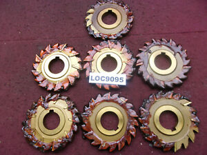 F d Arbor Slitting Saw Blades 4x7 16 Resharpened Lot Of 7 Loc9095
