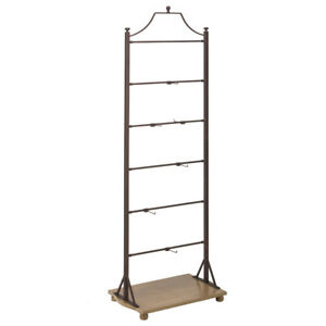Bronze Metal Display Stand 24 W 15 D 70 5 H Inches On Wood Base Shelf