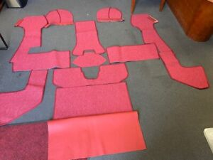 Porsche 356a T1 Coupe German Square Weaved Carpet Kit 1956 1957 Red